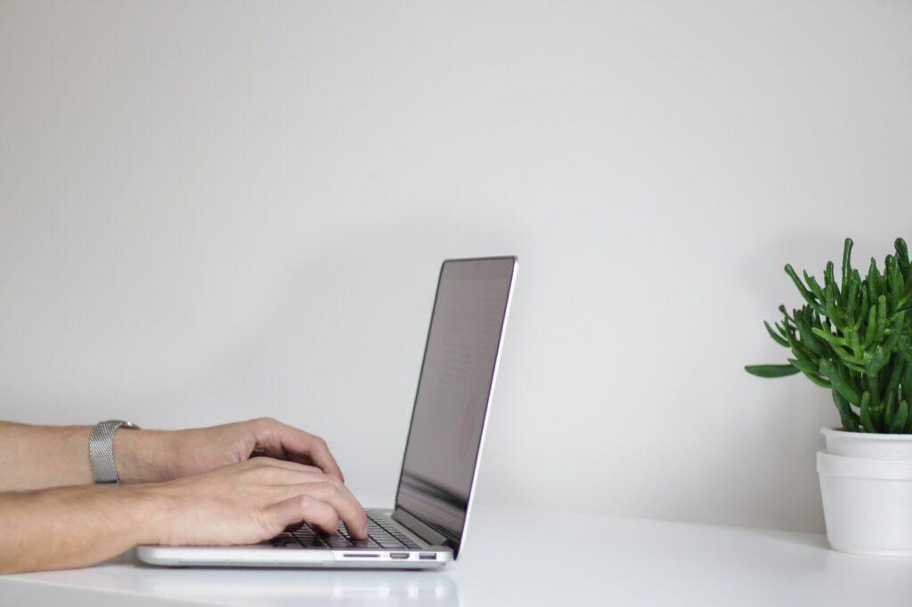 hands, laptop, working